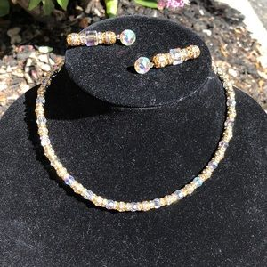 Nordstrom Crystal Iridescent Necklace & earring